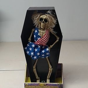 "Dancing Skeleton In Coffin ""Party In The USA"""